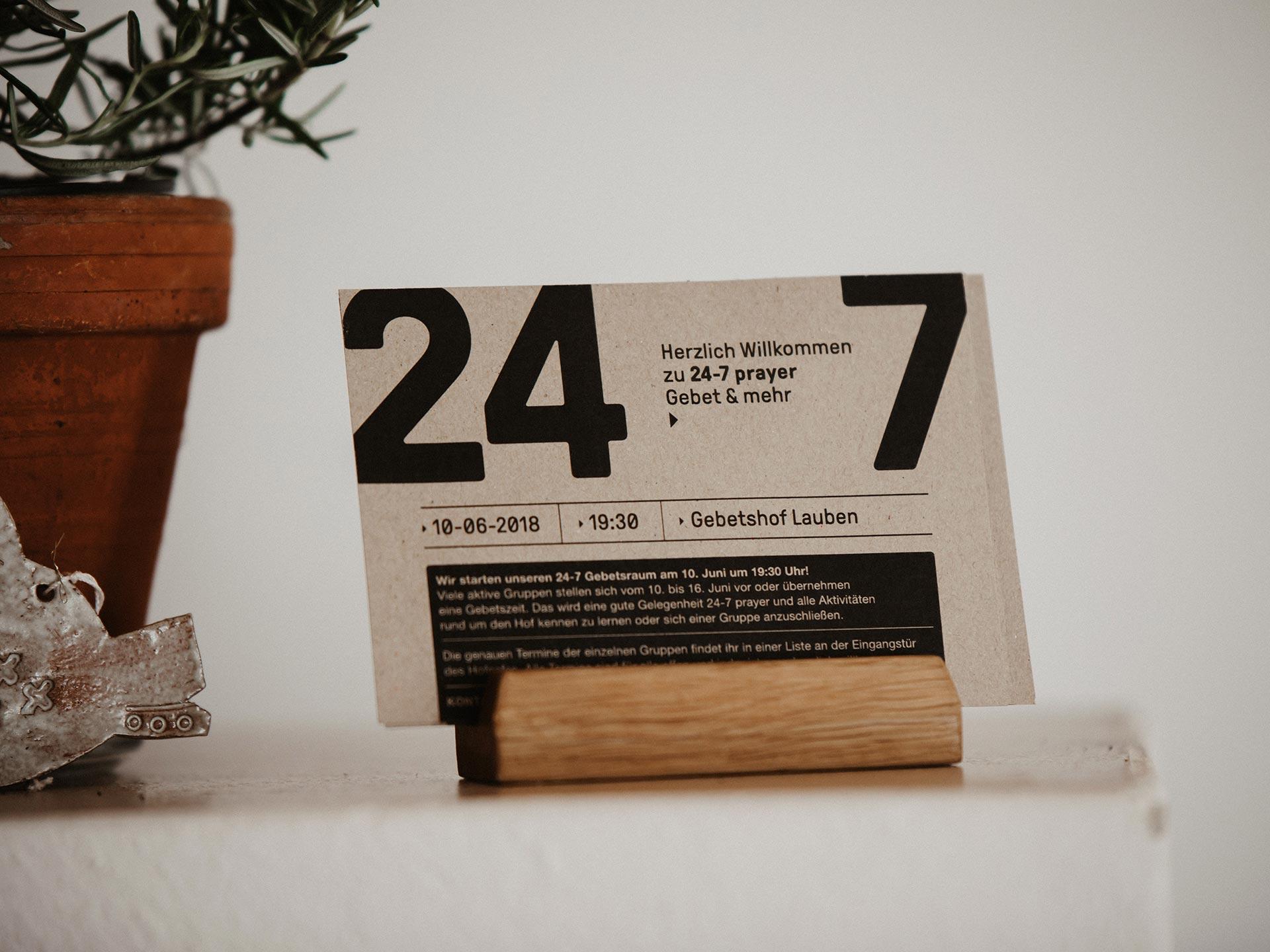 24-7 prayer im Gebetshof Lauben